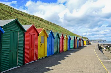 Whitby's Colourful Beachhuts